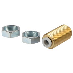Plug connection, straight (bulkhead), Ø 4 mm <> Ø 4 mm SMC PNEUMATIK