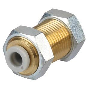 Steckverbindung, gerade (Schott), Ø 4 mm <> Ø 4 mm SMC PNEUMATIK