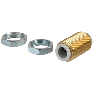 Plug connection, straight (bulkhead), &#216; 8 mm <> &#216; 8 mm SMC PNEUMATIK