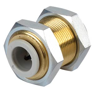 Plug connection, straight (bulkhead), Ø 10 mm <> Ø 10 mm SMC PNEUMATIK