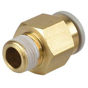 Screw connection, straight, R1/8 <> Ø 8 mm SMC PNEUMATIK