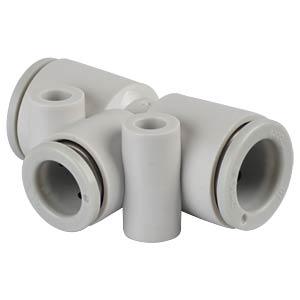 T-Steckverbindung, 2x &#216; 10 mm <> 1x &#216; 8 mm SMC PNEUMATIK