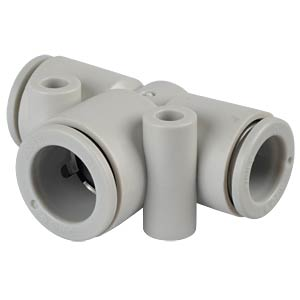 T-connector, 2x Ø 10 mm <> 1x Ø 12 mm SMC PNEUMATIK