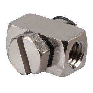 Miniature screw fitting, M5 angle piece, 360° SMC PNEUMATIK