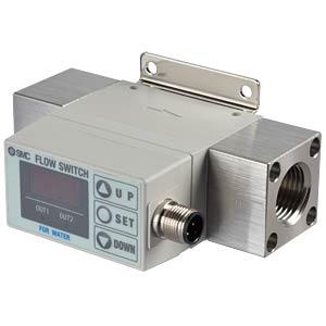 Flow sensor 2.0 - 16l/min, output: 2x PNP, water SMC PNEUMATIK