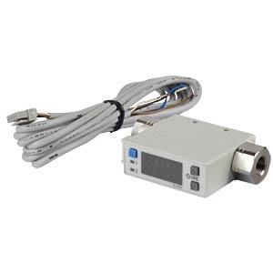 Durchflussschalter 0,2…10 l/min, Ausgang: PNP / 1...5 V SMC PNEUMATIK