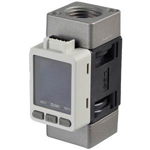Durchflussschalter 10…1000 l/min, Ausgang: 1…5 V SMC PNEUMATIK