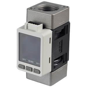 Durchflussschalter 5…500 l/min, Ausgang: 4…20 mA SMC PNEUMATIK