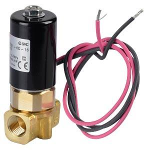 Magnetventil Rohr, NC, 2/2-Wege, 12 VDC, 100 l/min SMC PNEUMATIK