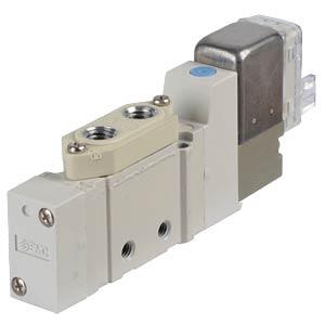 Solenoid valve 5/2, 24 VDC 200 l/min, mono SMC PNEUMATIK