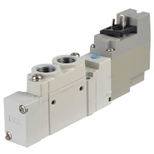 Elektromagnetventil 5/2, 24 VDC 450 l/min, mono SMC PNEUMATIK