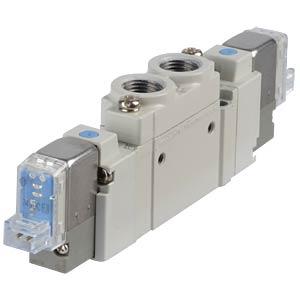 Elektromagnetventil 5/2, 24 VDC 450 l/min, bi SMC PNEUMATIK