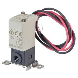 Solenoid valve 2/2 for compressed air, NC, 24 VDC, plastic SMC PNEUMATIK