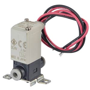Solenoid valve 2/2 for compressed air, NC, 24 VDC, plastic SMC PNEUMATIK