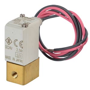 Solenoid valve 2/2 for water, NC, 24 VDC, brass SMC PNEUMATIK
