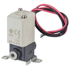 Elektromagnetventil 2/2 für Druckluft, NC, 24 VDC, Kunststoff SMC PNEUMATIK