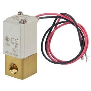 Solenoid valve 2/2 for medium vacuum, NC, 24 VDC, brass SMC PNEUMATIK