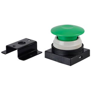 Actuator attachment 3/2, push button, mushroom shaped, green SMC PNEUMATIK