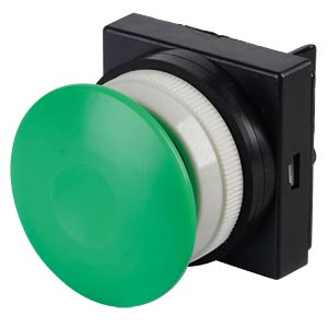 Actuator attachment 5/2, push button, mushroom shaped, green SMC PNEUMATIK