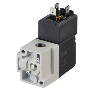 Seat valve 3/2, for compressed air, 24 VDC, 182 l/min, G1/8 SMC PNEUMATIK