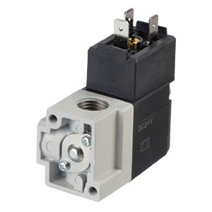 Seat valve 3/2, for compressed air, 24 VDC, 187 l/min, G1/4 SMC PNEUMATIK