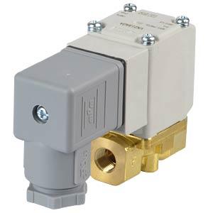 Elektromagnetventil 2/2 für Öl, NC, 24 VDC, G1/8, ISO-Class-B SMC PNEUMATIK