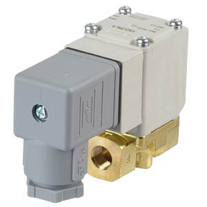 Elektromagnetventil 2/2 für Öl, NC, 230 VAC, G1/8, ISO-Class-B SMC PNEUMATIK