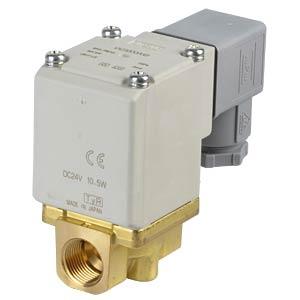 Elektromagnetventil 2/2 für Wasser, NC, 24 VDC, ISO-Class-B SMC PNEUMATIK