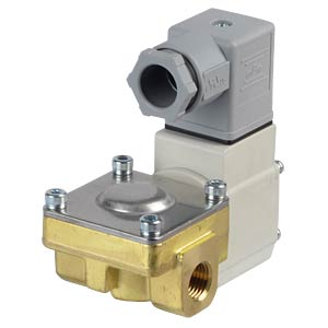 Process valve 2/2 for air/water, NC, 24 VDC, brass, G1/4 SMC PNEUMATIK