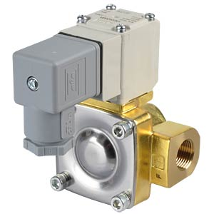 Process valve 2/2 for air/water, NC, 24 V DC, brass, G3/8 SMC PNEUMATIK