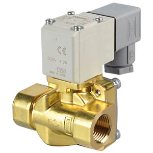 Process valve 2/2 for air/water, NC, 24 VDC, brass, G1/2 SMC PNEUMATIK