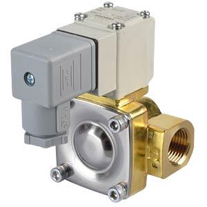 Prozessventil 2/2 für Luft/Wasser, NC, 24 VDC, Messing, G1/2 SMC PNEUMATIK