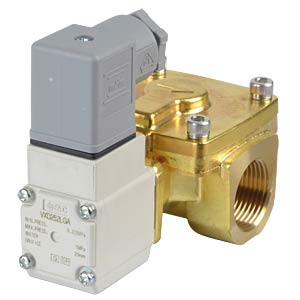 Process valve 2/2 for air/water, NC, 24 VDC, brass, G3/4 SMC PNEUMATIK