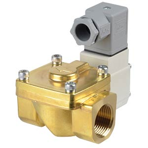 Process valve 2/2 for air/water, NC, 230 VAC, brass, G3/4 SMC PNEUMATIK