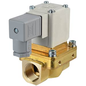 Process valve 2/2 for air/water, NC, 24 VDC, brass, G3/4 SMC PNEUMATIK