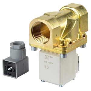 Prozessventil 2/2 für Luft/Wasser, NC, 230 VAC, Messing, G1 SMC PNEUMATIK