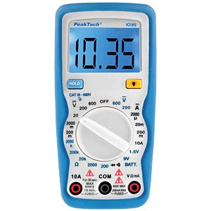 Multimeter, digital, 2000 Counts PEAKTECH P 1035