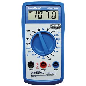 Digital multimeter, 3½ digits, TÜV-/GS-tested PEAKTECH P 1070