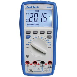 Multimeter, digital, 3999 Counts, Bargraph PEAKTECH P 2015