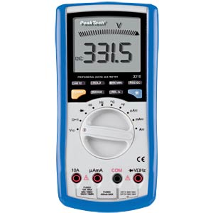 Multimeter, digital, 3999 Counts, USB PEAKTECH 3315 USB