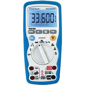 Multimeter, digital, 40000 Counts, TRMS PEAKTECH 3360