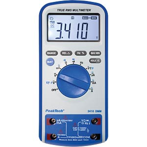 Multimeter, digital, 6000 Counts, TRMS PEAKTECH P3410