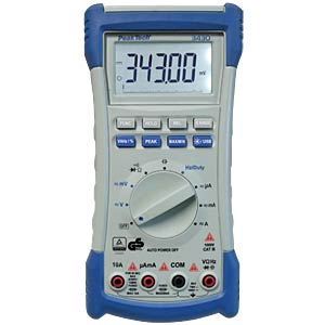 4 1/2-digit digital multimeter with USB PEAKTECH 3430 USB