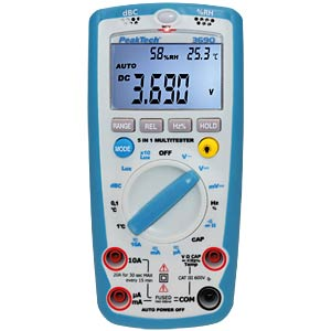 Multimeter, digital, 4000 Counts, 5-in-1 PEAKTECH P 3690