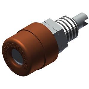 Einbaubuchse, 4 mm, Lötanschluss, braun HIRSCHMANN TEST & MEASUREMENT 930176105