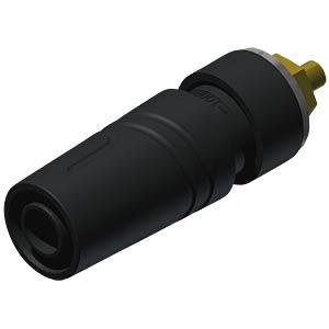 Aufbaubuchse, 4 mm, schwarz, gesichert, Lötanschluss HIRSCHMANN TEST & MEASUREMENT 972358700
