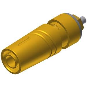 Aufbaubuchse, 4 mm, gelb, gesichert, Lötanschluss HIRSCHMANN TEST & MEASUREMENT 972358703