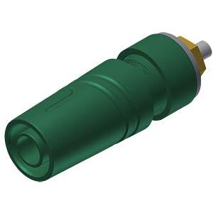 Aufbaubuchse, 4 mm, grün, gesichert, Lötanschluss HIRSCHMANN TEST & MEASUREMENT 972358704