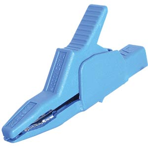 4 mm safety tapping clamp, up to 30 mm, blue HIRSCHMANN TEST & MEASUREMENT 972405102