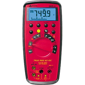Multimeter 38XR-A, digital, 9999 Counts, TRMS AMPROBE 3454705